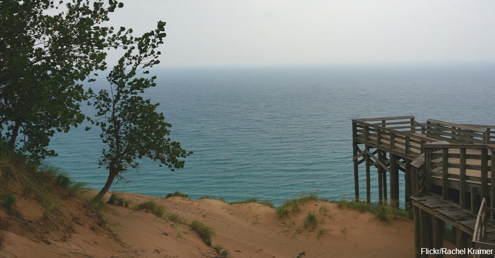Sleeping Bear Dunes on Lake Michigan / Via Rachel Kramer