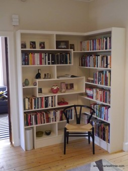 From Charles Finnie: Bookcase I made for a client a couple if years ago. High grade plywood with all rostered joints..