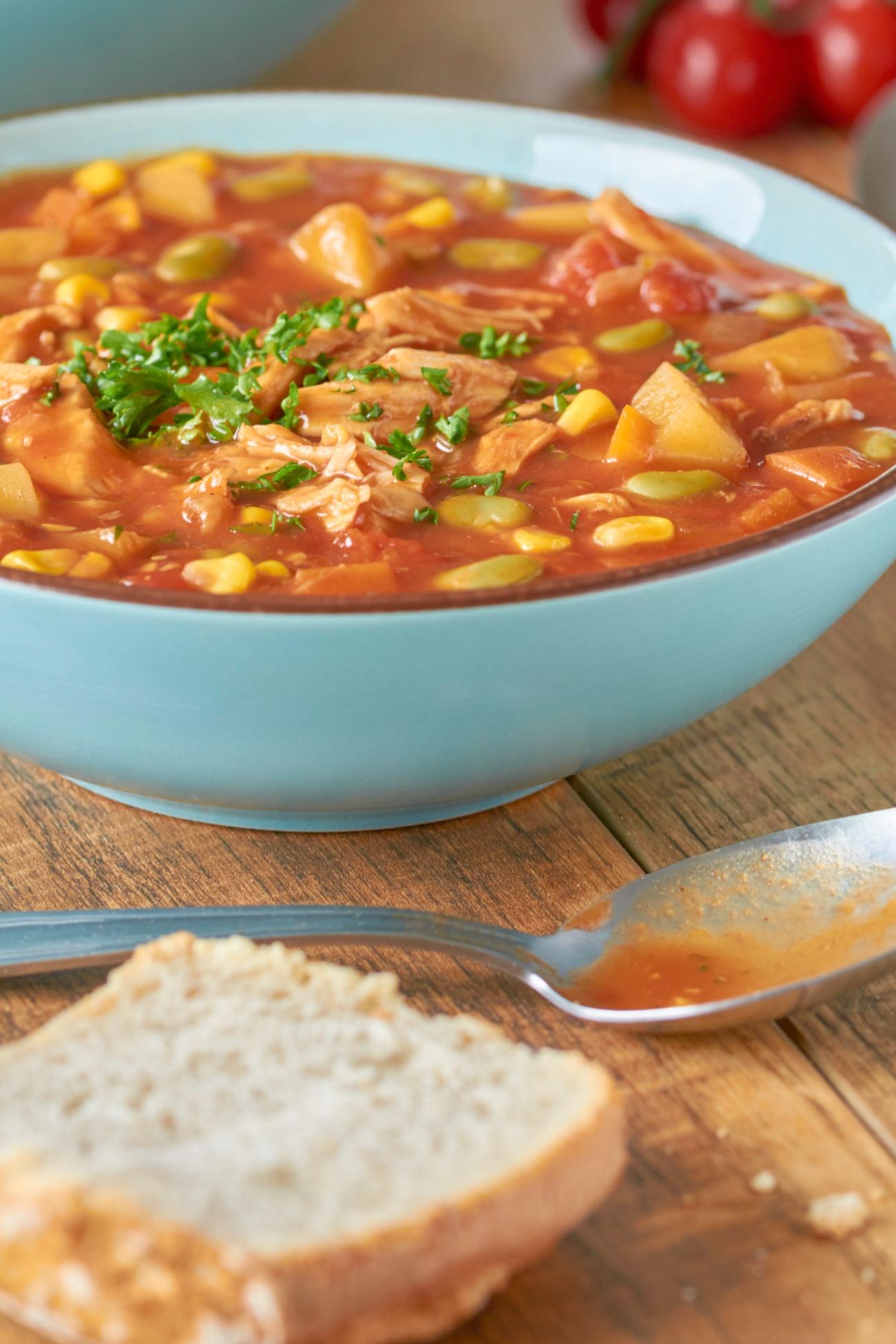 Homemade chicken Brunswick stew
