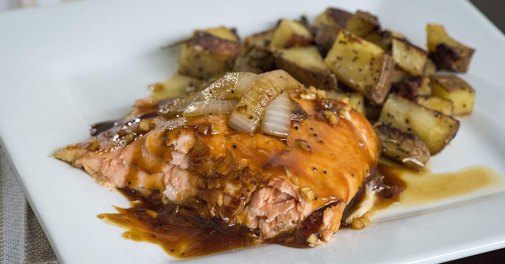 Maple Bourbon Oven Baked Salmon 12 Tomatoes