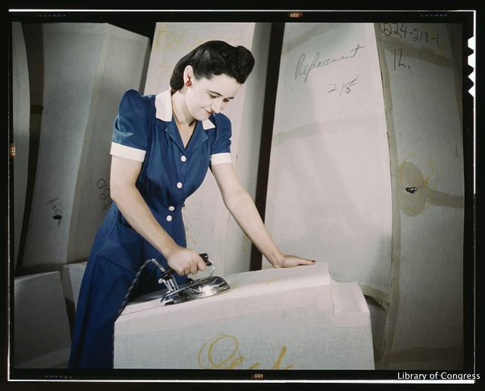 WWII Era Photograph of Female Factory Worker