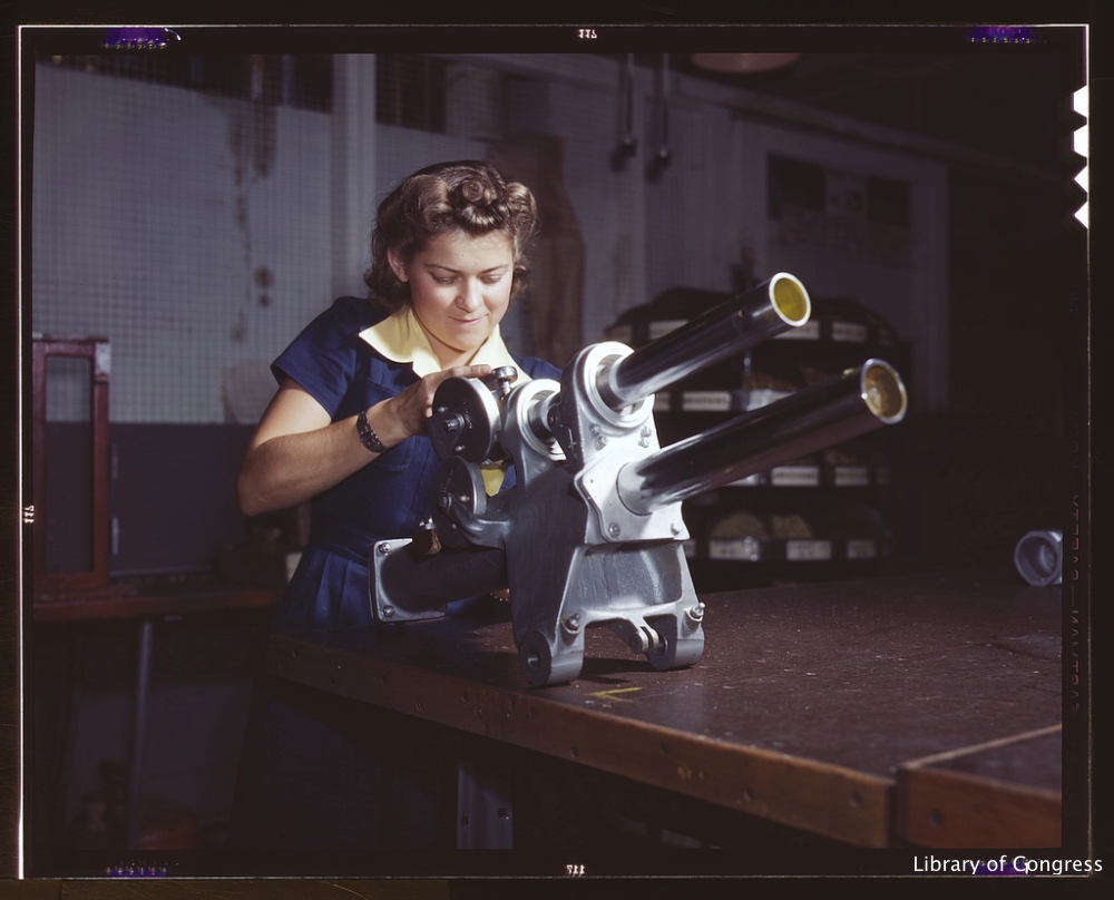 WWII Female Factory Worker