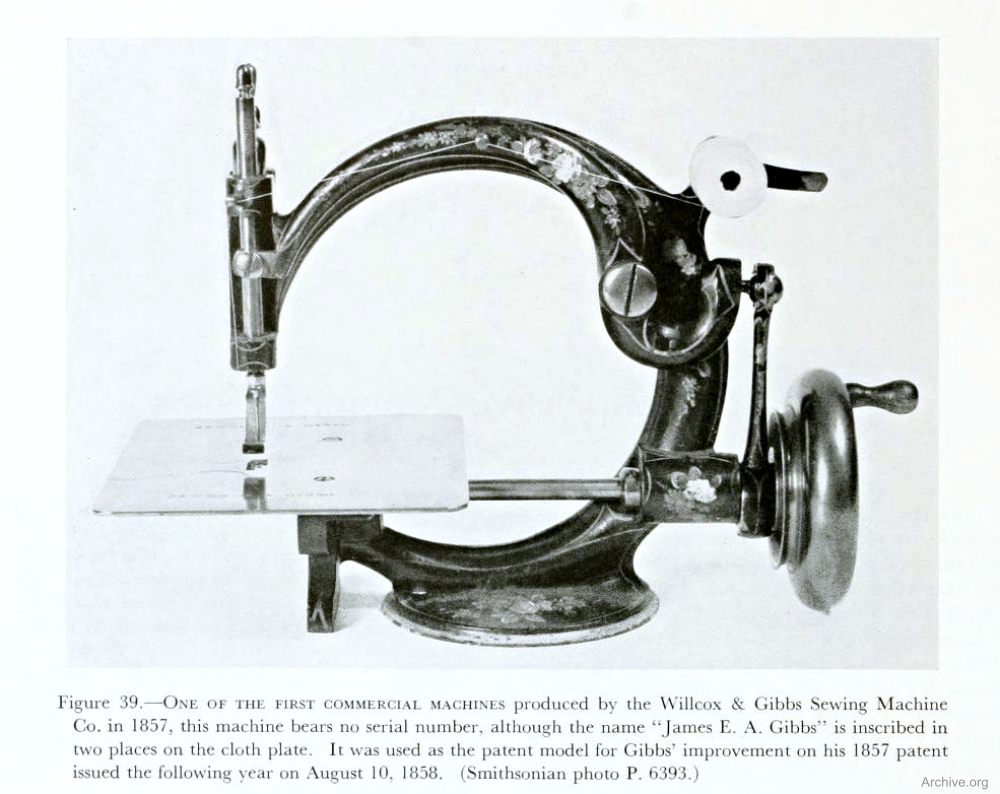 Willcox & Gibbs Early Chainstitch Machine