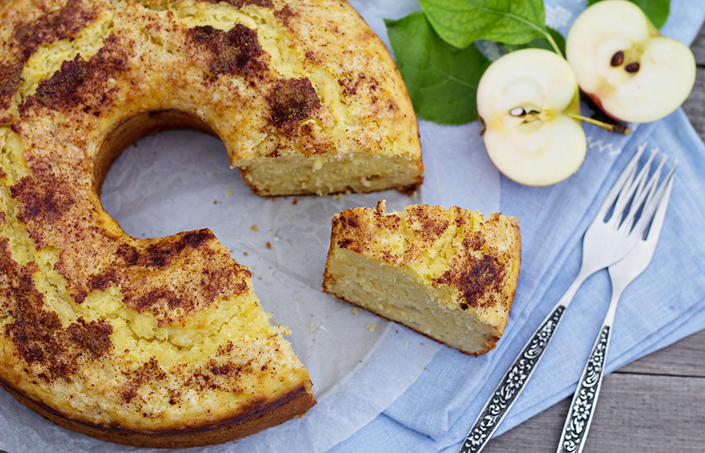 Sour Cream Apple Cake 2
