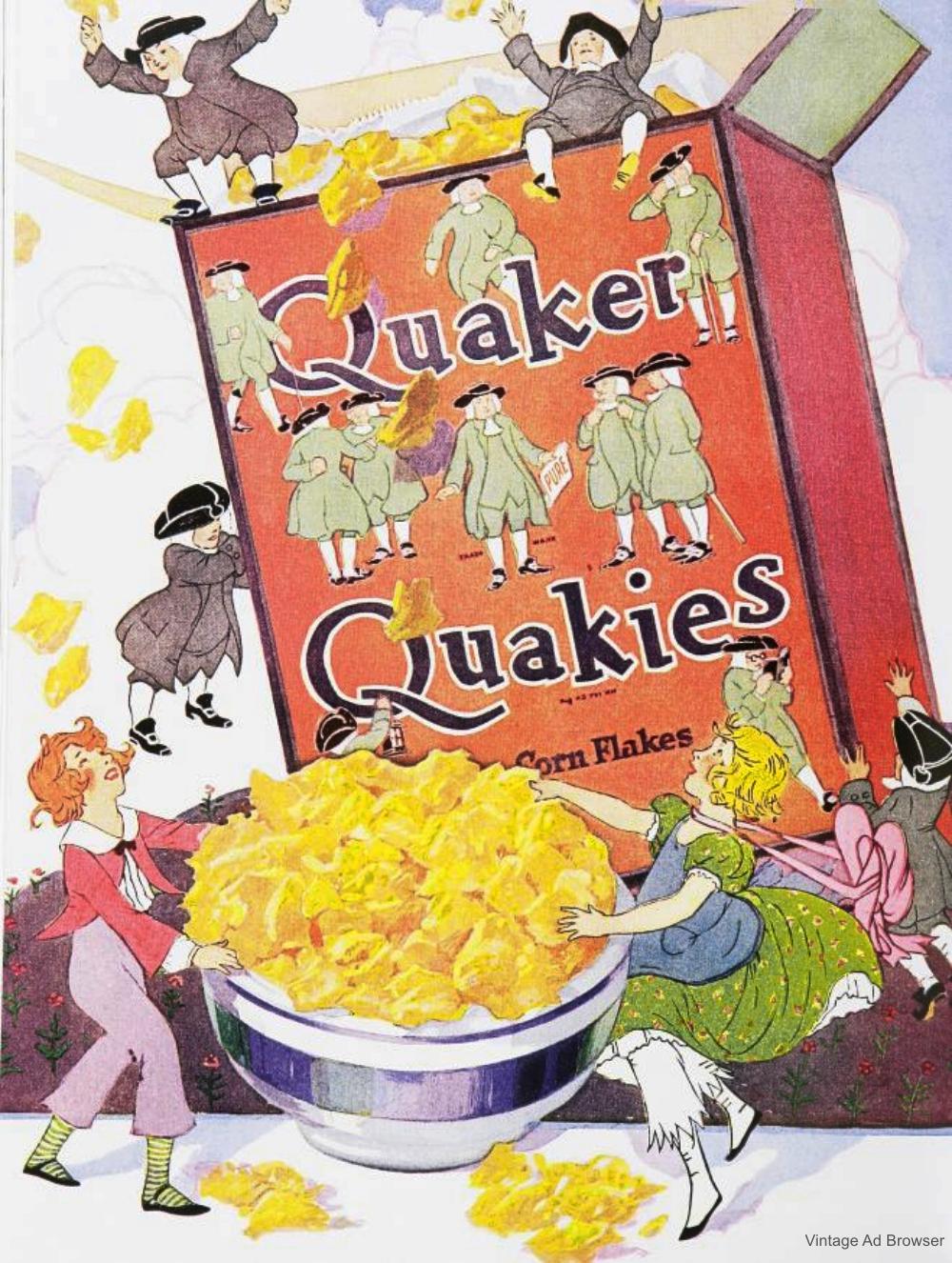 Quaker Quakies Vintage Advertisement