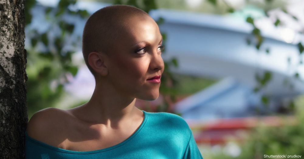 Cancer Patient in Blue Shirt