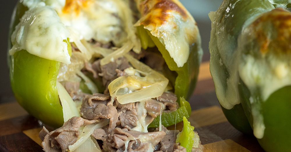 Philly Cheesesteak Stuffed Peppers Resized
