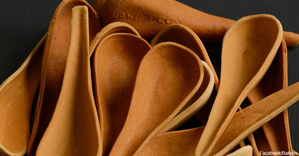 Edible cutlery / Via Bakeys