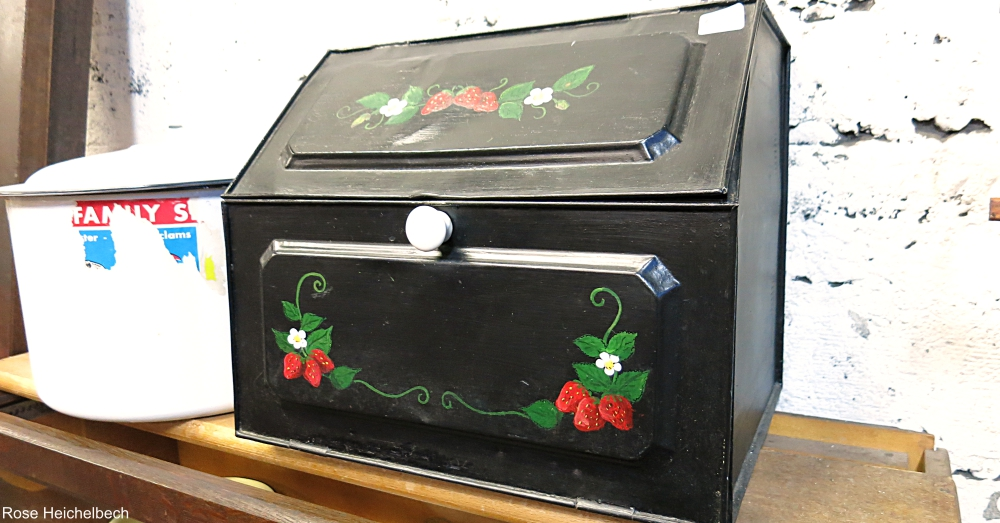 Painted Metal Bread Box