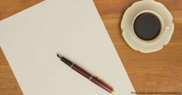 About to write a letter