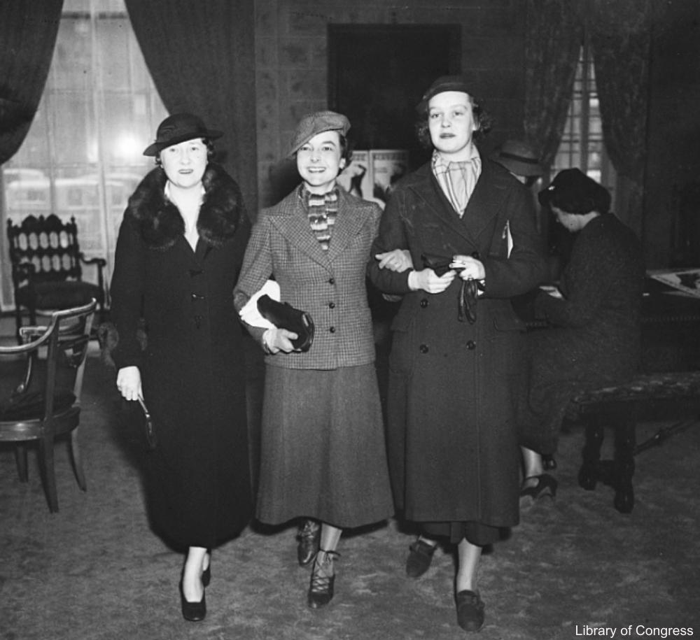 Three Ladies in Coats