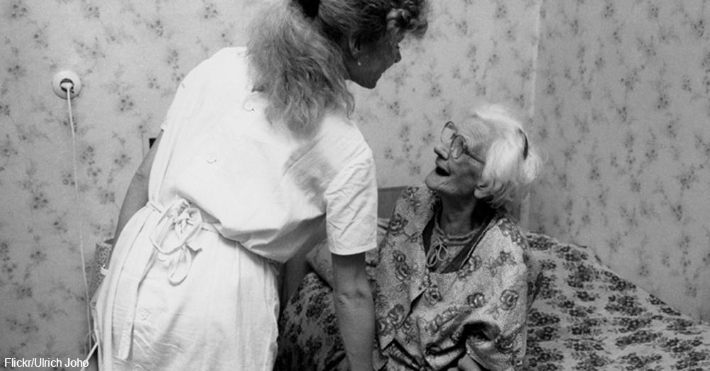 Nurse Caring for Elderly Woman