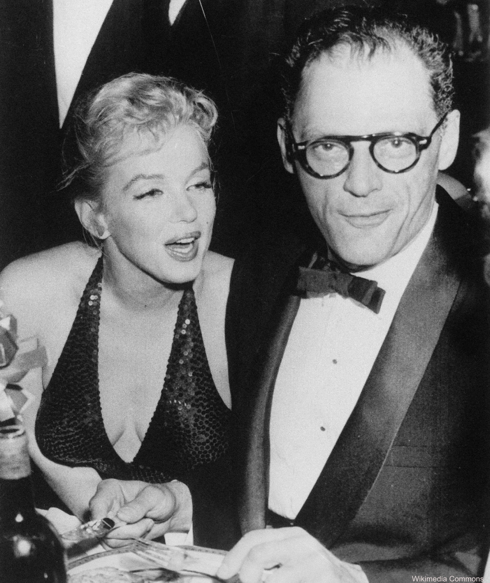 Marilyn Monroe and Arthur Miller at the Paris Ball in NYC 1957