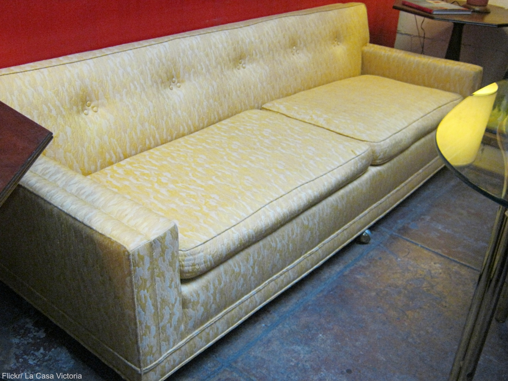 Yellow Mid-century Modern Sofa