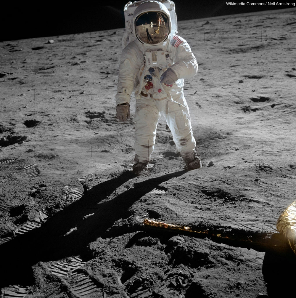 Buzz Aldrin Photographed by Neil Armstrong on the Moon Landing
