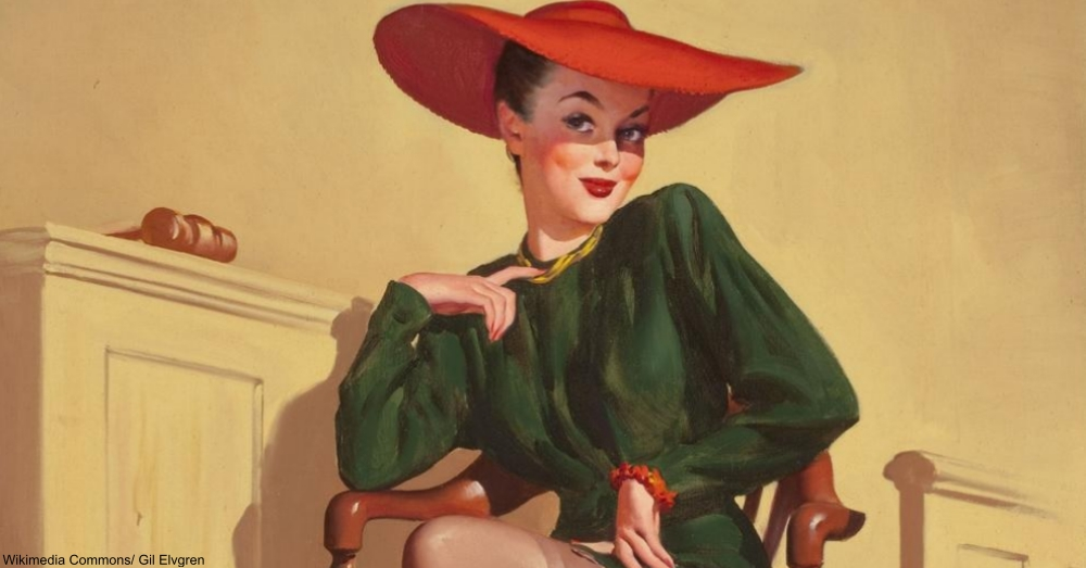 The Verdict Was...Wow by Gil Elvgren