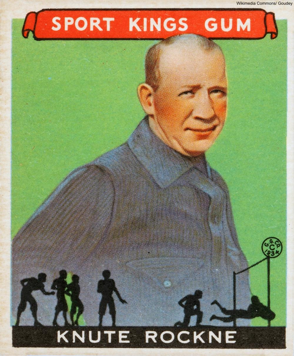 Knute Rockne Goudey Card