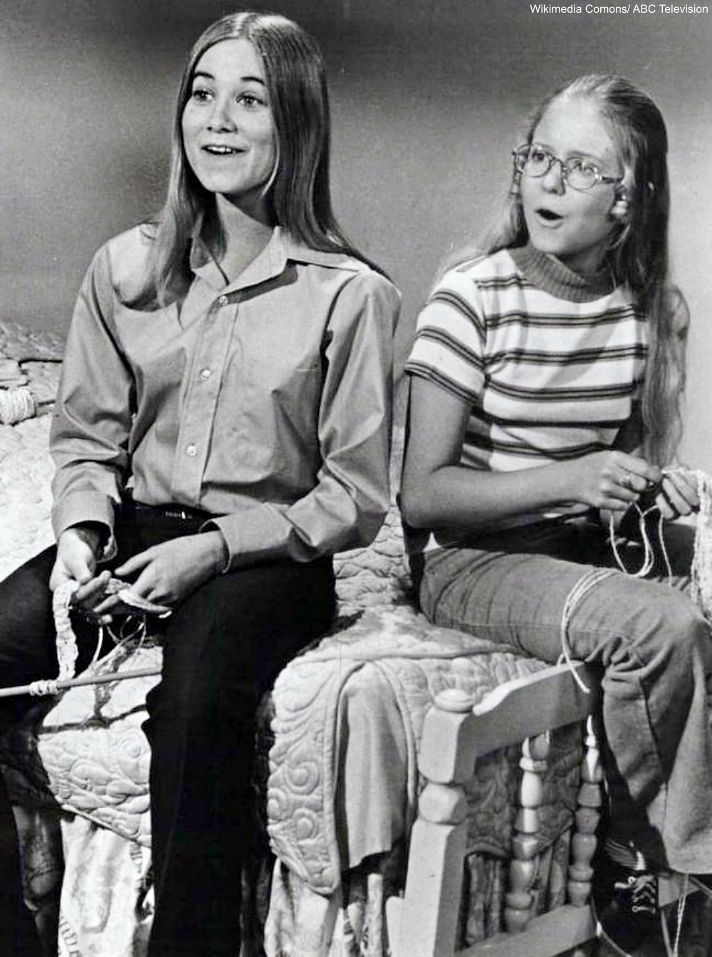 Maureen McCormick and Eve Plumb on The Brady Bunch