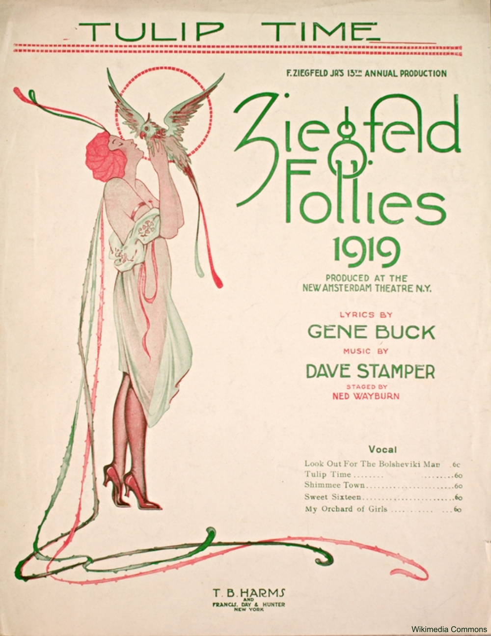 1919 Ziegfeld Follies Sheet Music
