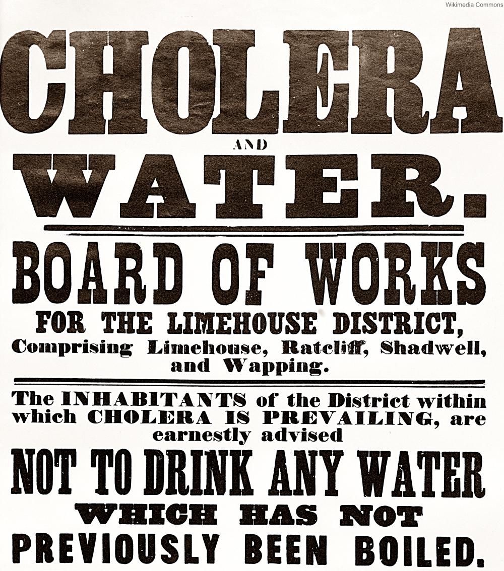 1866 Cholera Notice London