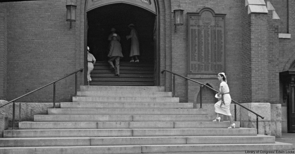 Church Steps New Hampshire 1937