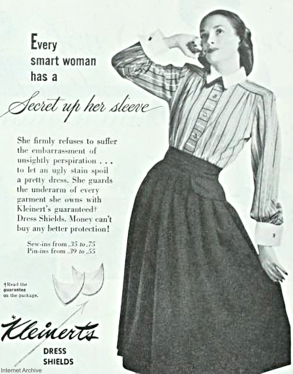 Kleinert's Dress Shields Vintage Advertisement