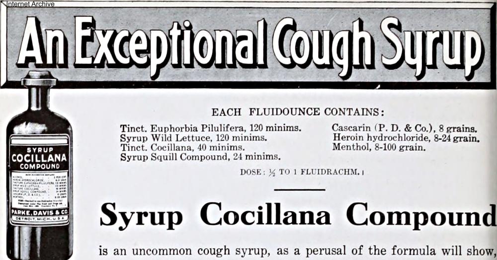 Parke Davis Heroin Cough Syrup Ad Circa 1909