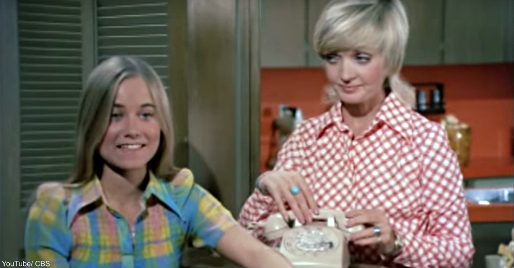 Florence Henderson and Maureen McCormick On The Brady Bunch