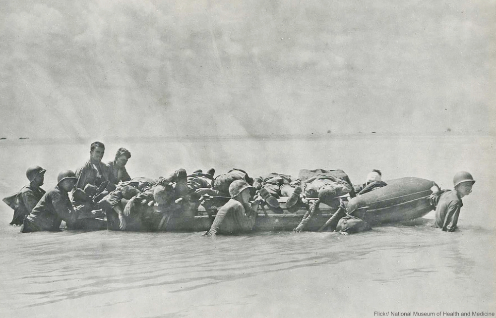 Inflatable Rescue Boat at the Battle of Tarawa