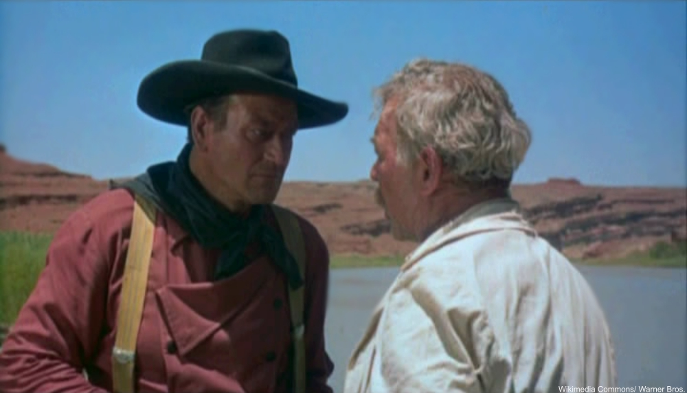 John Wayne and Ward Bond in The Searchers
