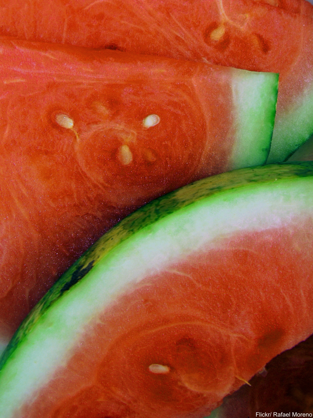 Freshly Cut Watermelon