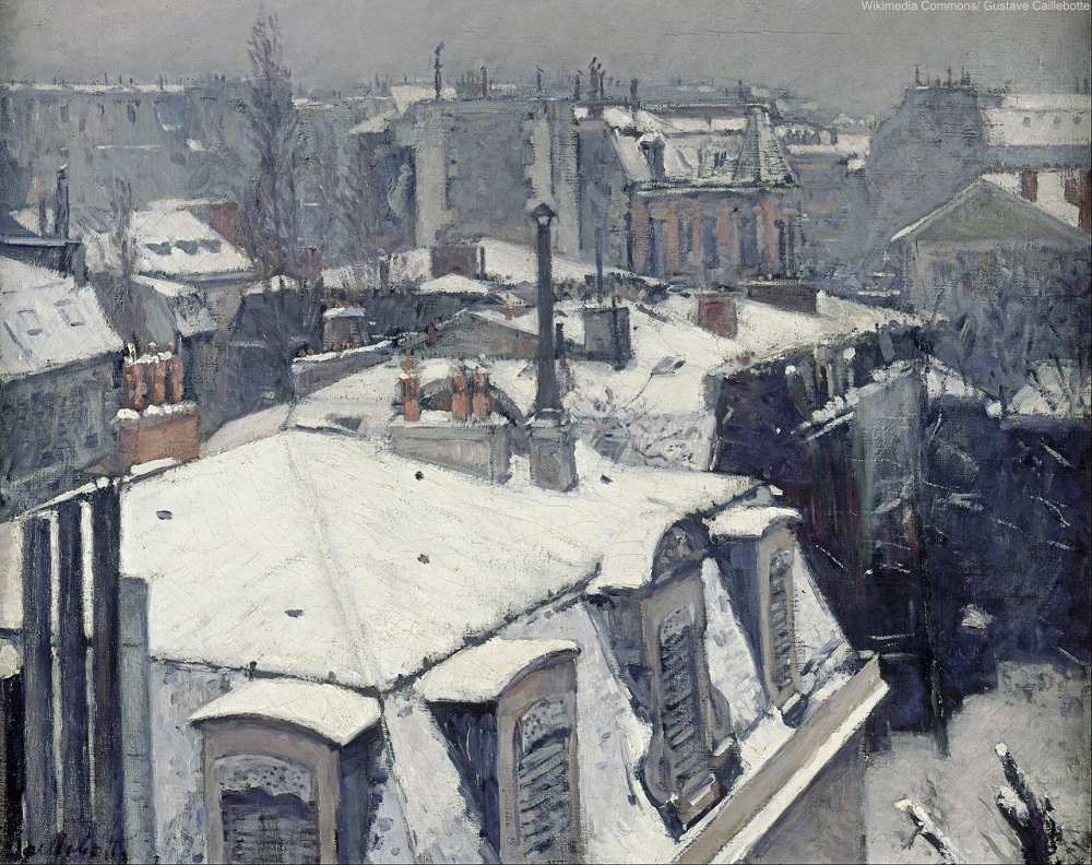 Rooftos in the snow by Gustave Caillebotte 1878