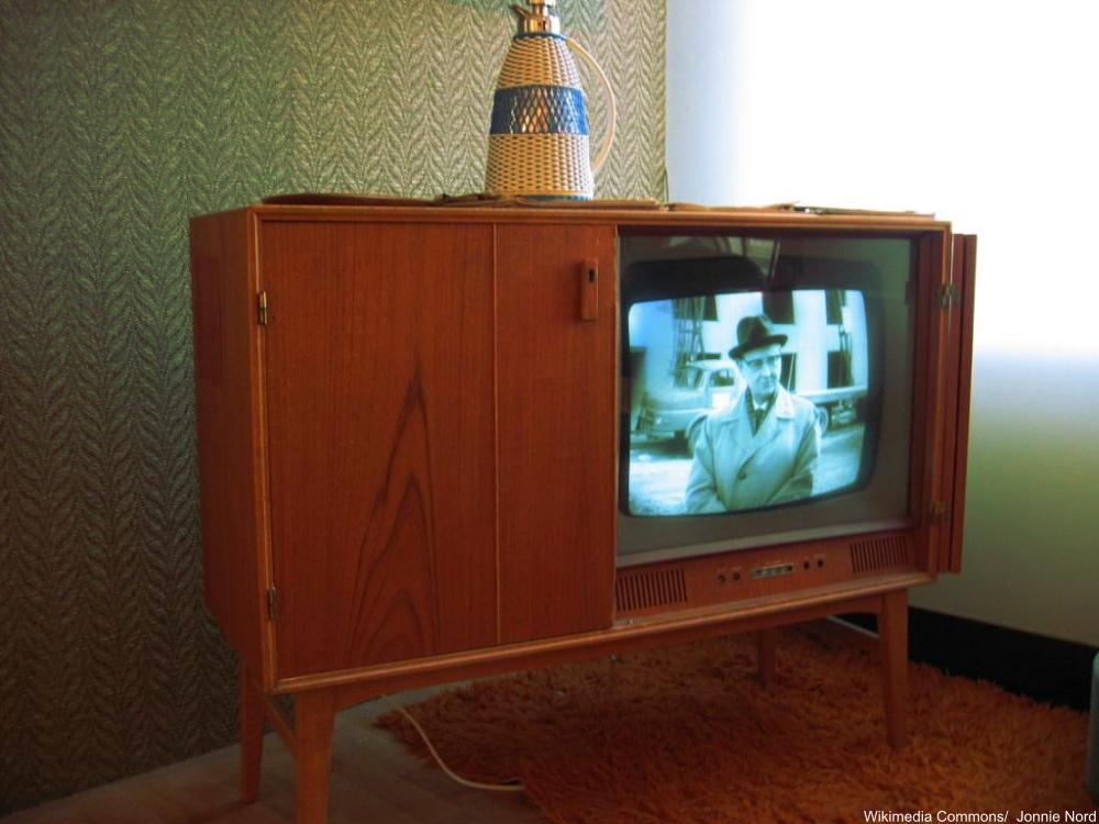 1950s TV in Cabinet
