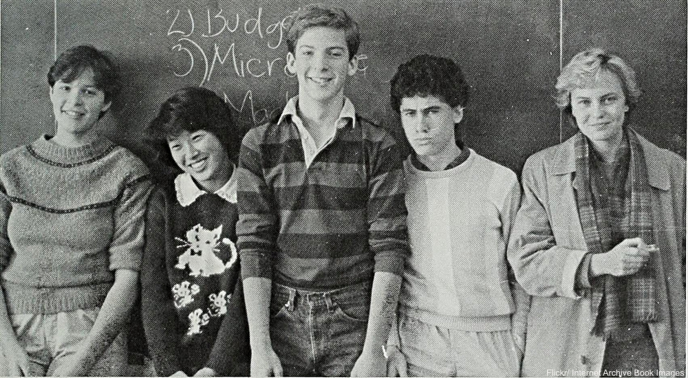 1980s College kids in classroom
