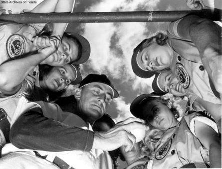 Florida Memory • Dick Bass with members of the Fort Wayne