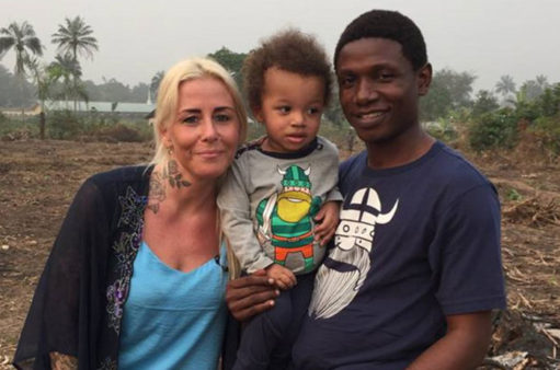 Danish aid worker Anja holds Hope months after saving his life