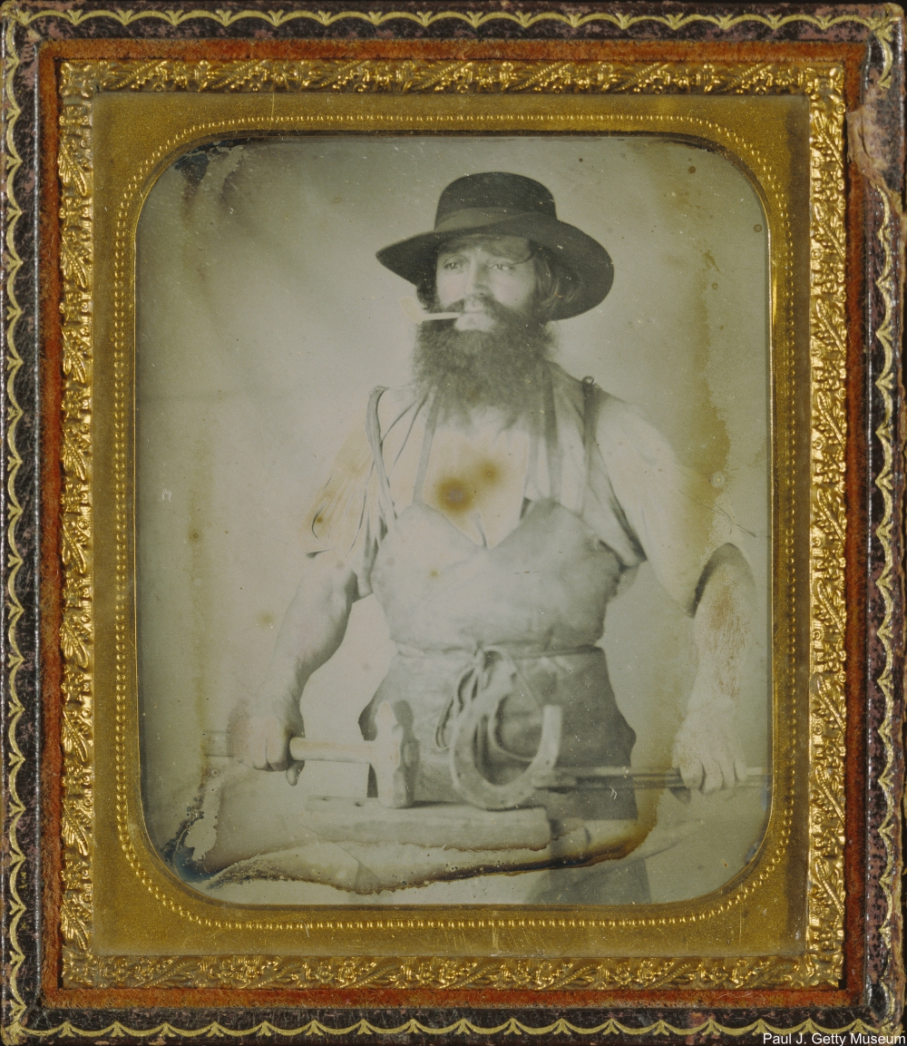 Blacksmith Daguerrotype Circa 1858