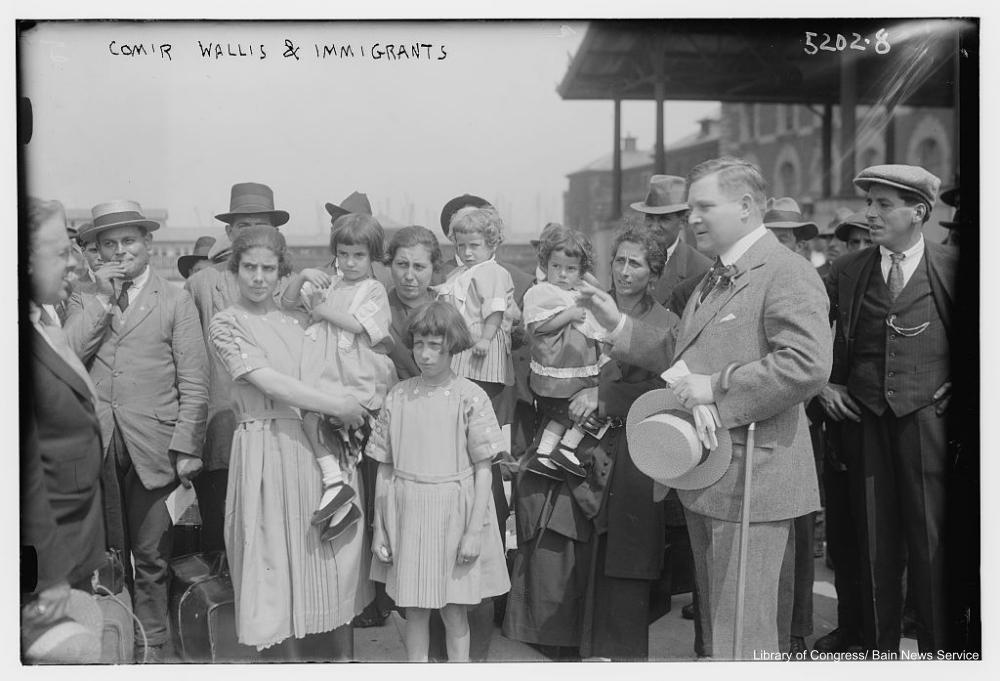 Commander Wallis and Immigrants