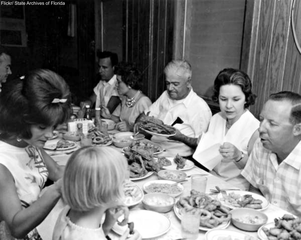 1965 Florida Dinner Table