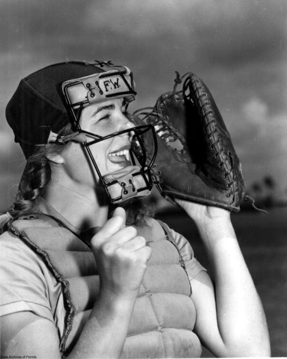 Dottie Schroeder in 1948 in FL Playing for the AAGBPL