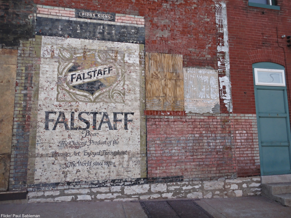 Ghost sign for Falstaff Beer