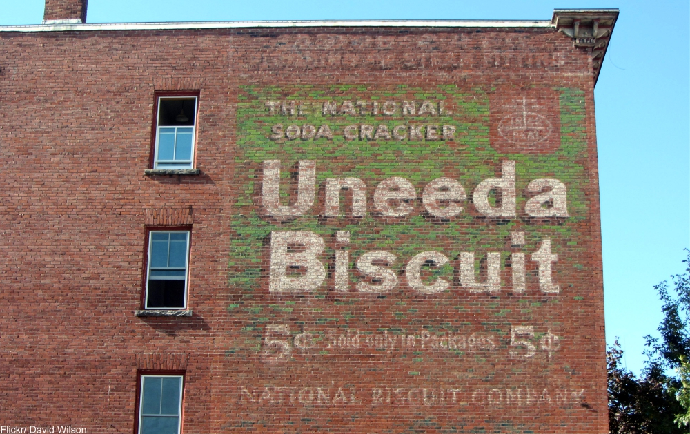 Lewiston, ME, ghost sign