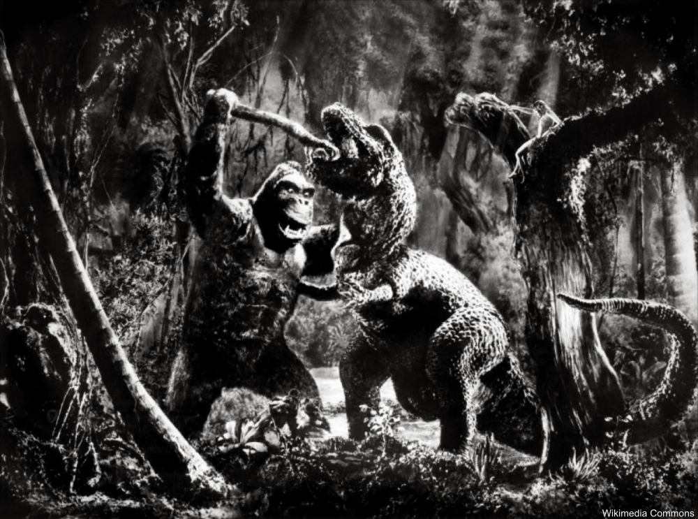 King Kong fighting a t-rex 1933