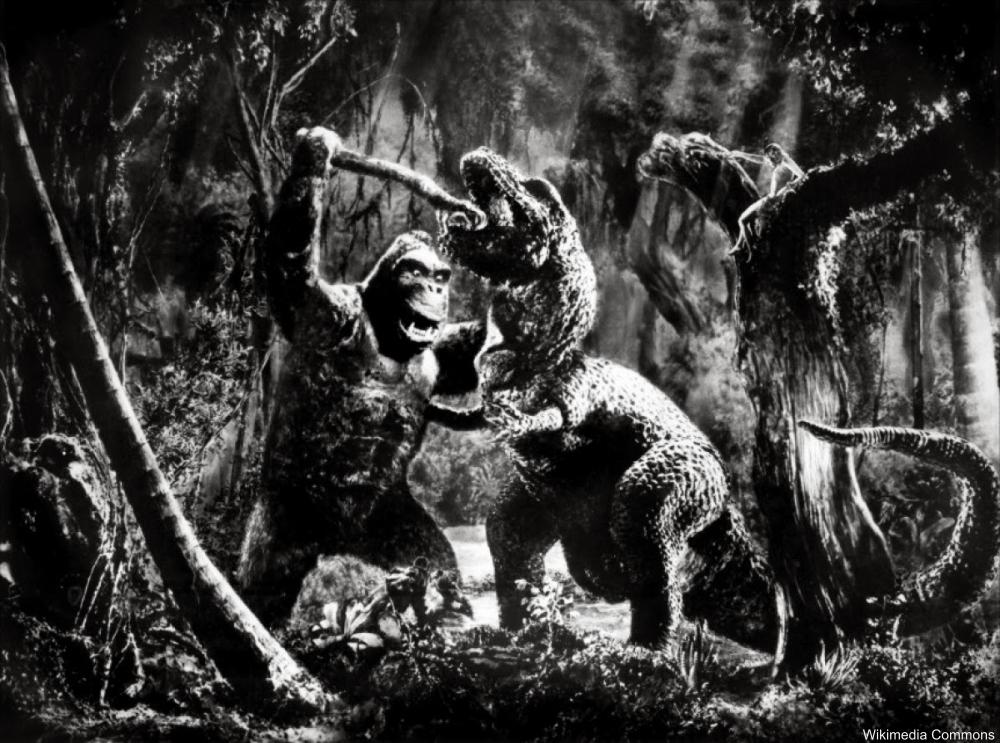 King Kong fighting a t-rex 1933