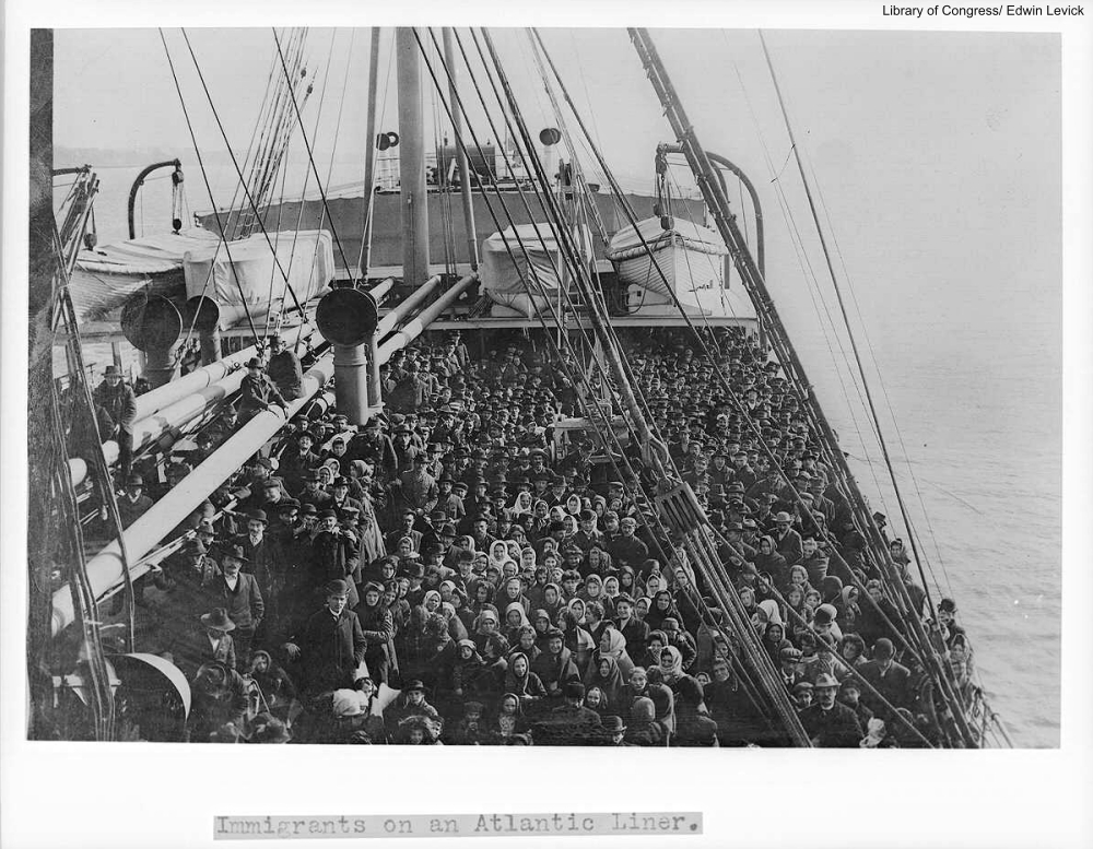 Steam Liner Full of Immigrants