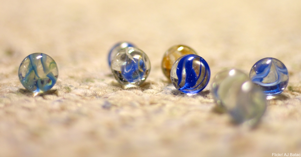 Marbles on the Floor Just Waiting to be Stepped on