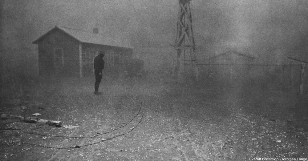 New Mexico Dust Bowl 1935 by Dorthea Lange