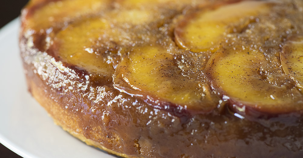 Peach Upside Down Cake With Yellow Cake Mix