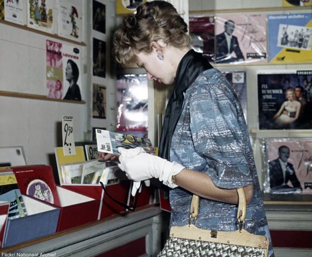 Record Shopping Circa 1962