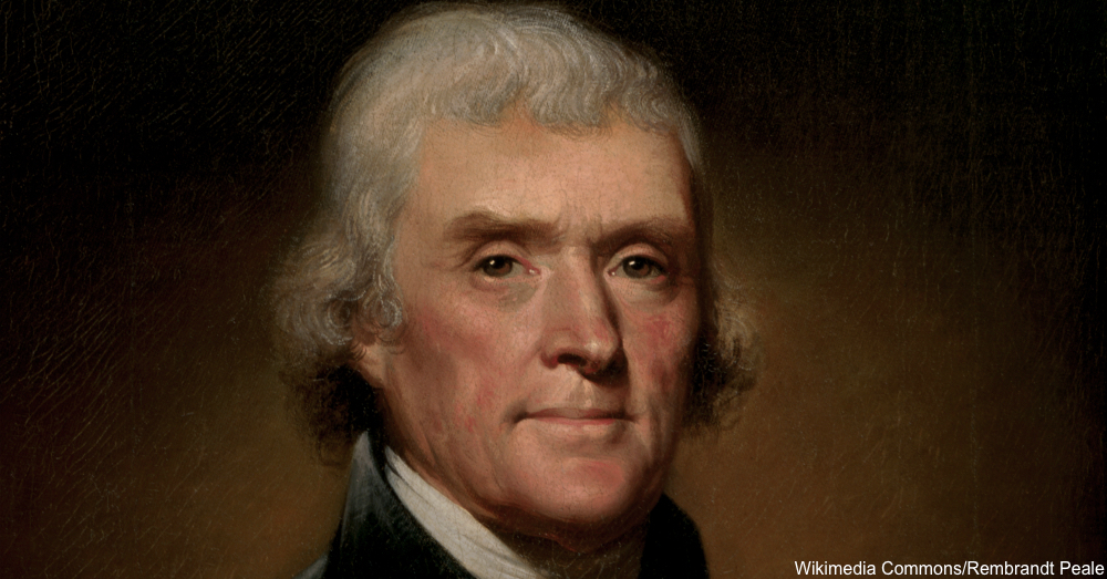 Portrait of Thomas Jefferson Circa 1800
